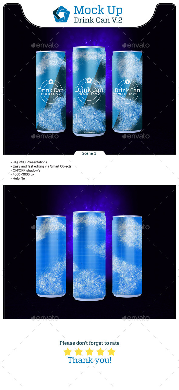 Drink Can V.2 - Food and Drink Packaging