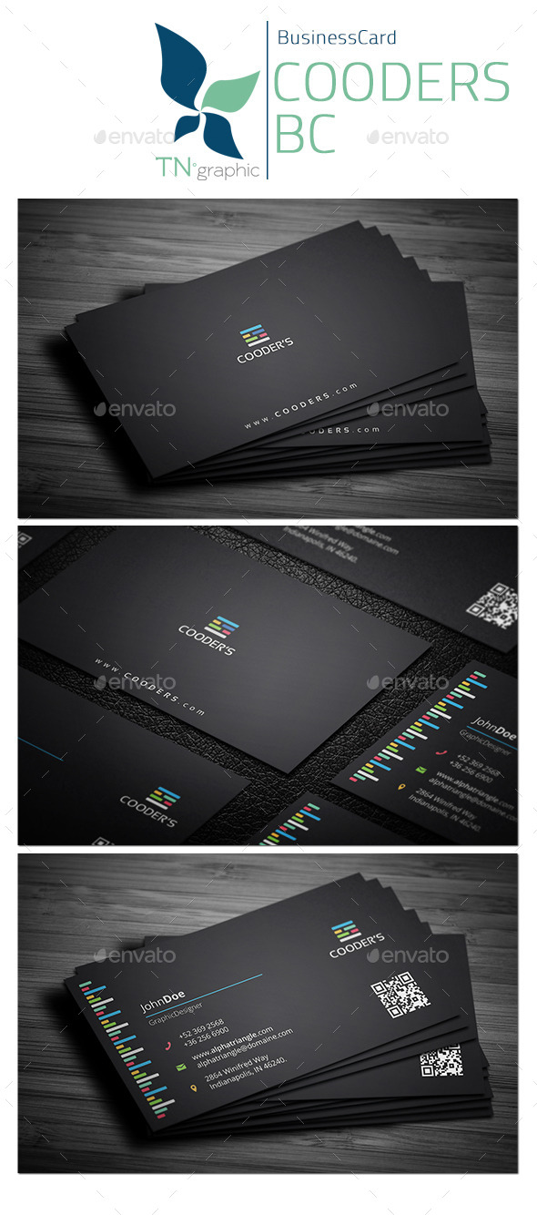 Cooders - Business Card - Business Cards Print Templates