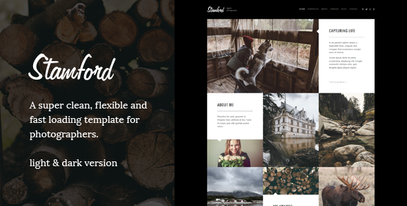 Stamford – HTML5 Photography Portfolio & Blog