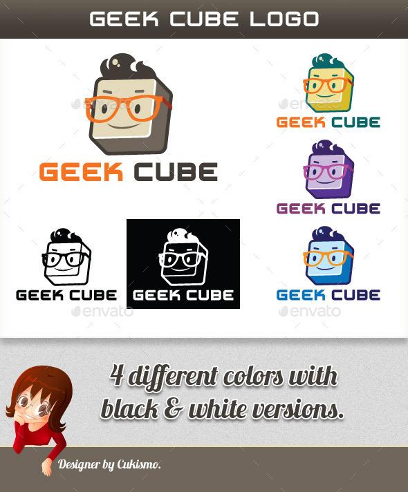 Geek Cube Logo - 3d Abstract