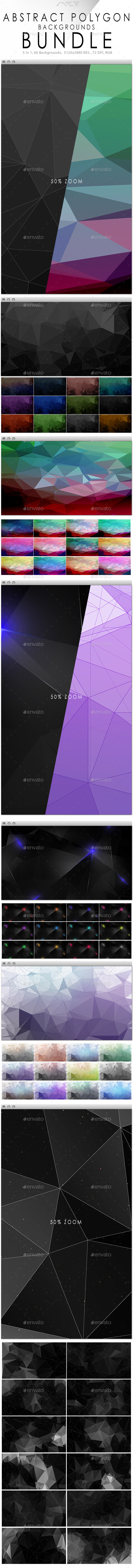 Abstract Polygon Backgrounds Bundle           - Abstract Backgrounds