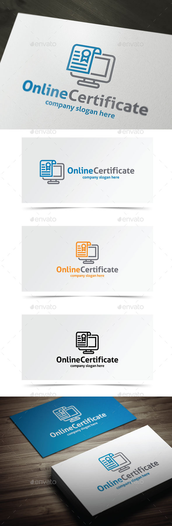 Online Certificate - Objects Logo Templates