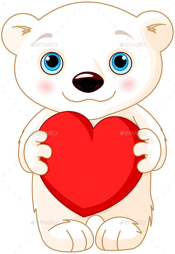 Valentine Day Polar Bear - Valentines Seasons/Holidays