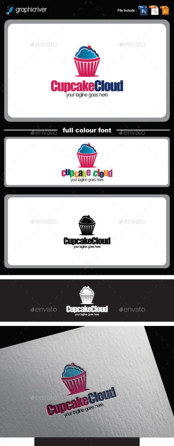 cupcake cloud logo template - Logo Templates