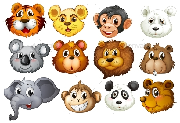 Animal Heads - Animals Characters