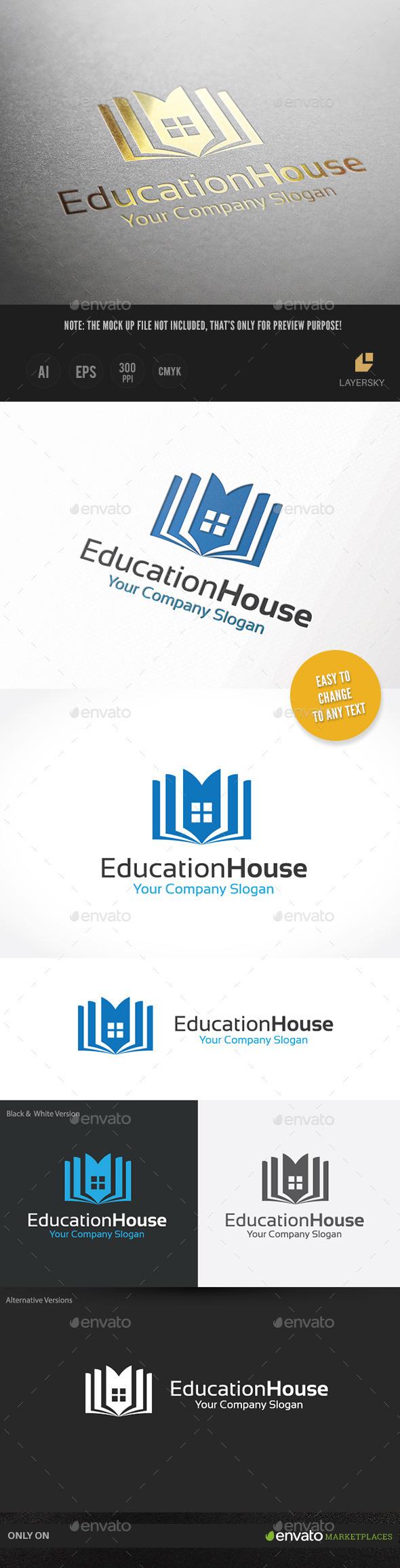 Education House - Buildings Logo Templates