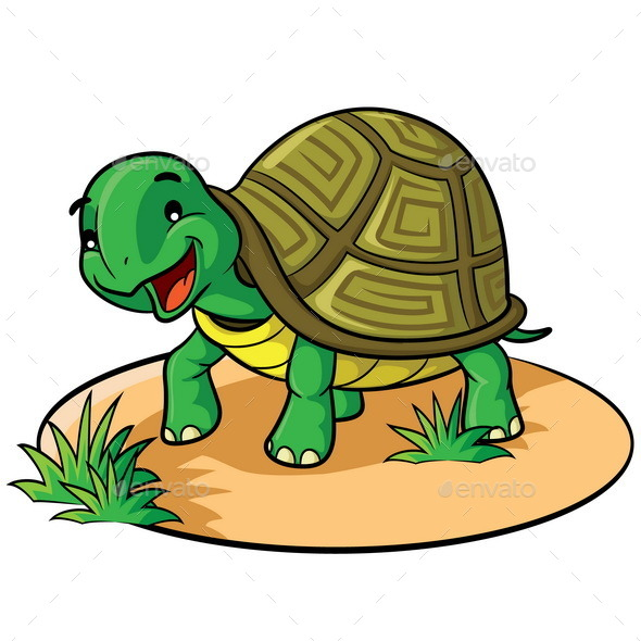 Turtle Cartoon - Animals Characters