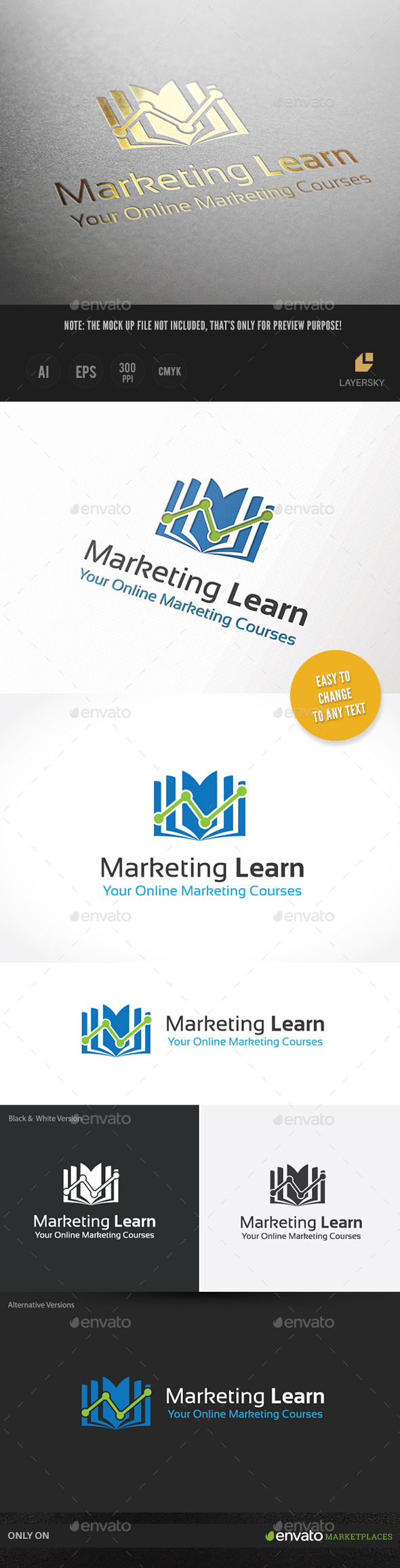 Marketing Learn  - Objects Logo Templates