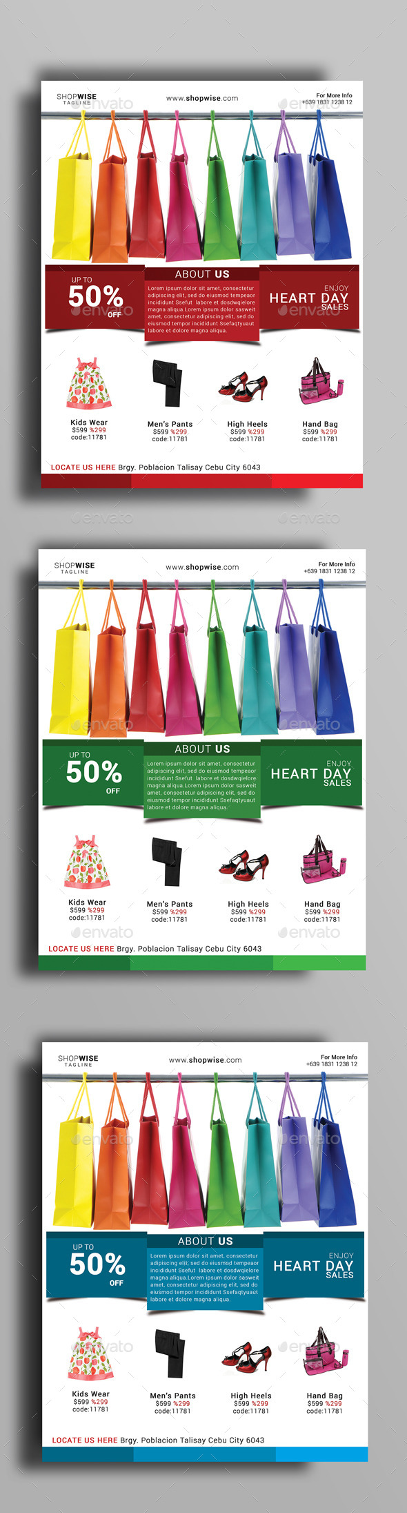 Heart Day Sale Flyer - Flyers Print Templates