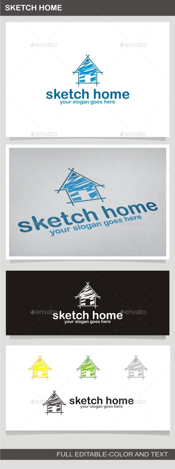 Sketch Home - Buildings Logo Templates