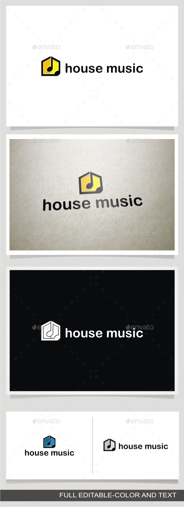 House Music - Buildings Logo Templates