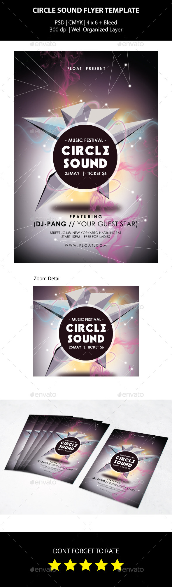 Circle Sound Flyer Template - Events Flyers
