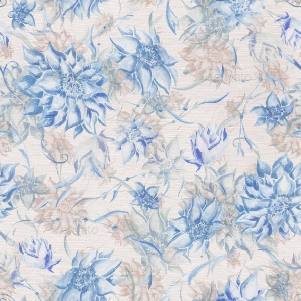 Vintage Watercolor Pattern - Backgrounds Decorative
