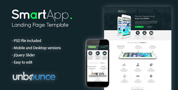 SmartApp - Unbounce Landing Page Template - Unbounce Landing Pages Marketing