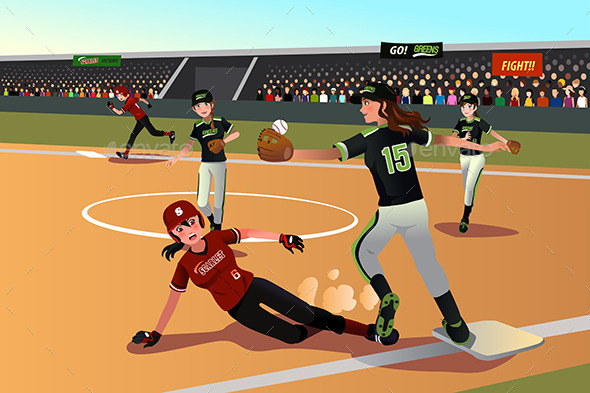 Women Playing Softball - Sports/Activity Conceptual