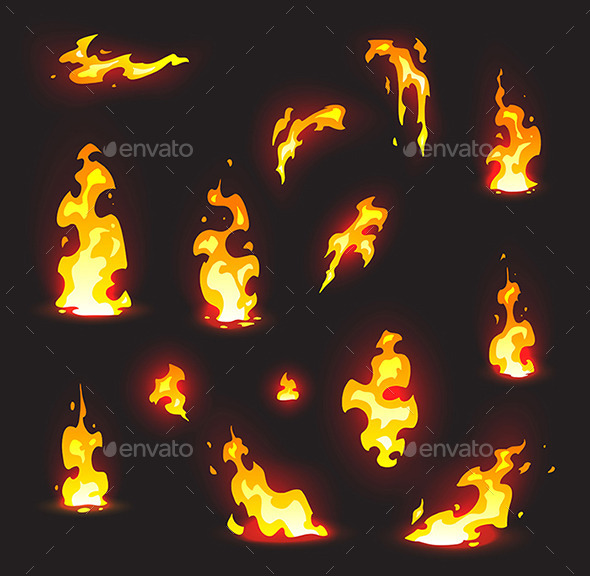 Fire Effects on a Dark Background with Glow - Nature Conceptual