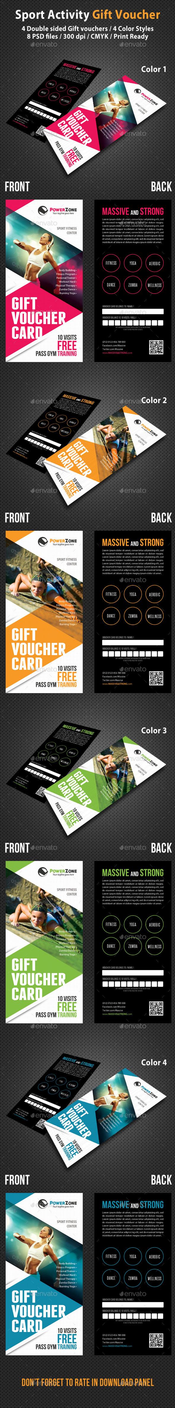 Sport Activity Gift Voucher 03 - Cards & Invites Print Templates