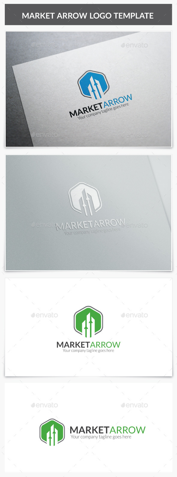 Market Arrow Logo - Vector Abstract