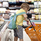 Boy Putting Products Into Shopping Cart - VideoHive Item for Sale