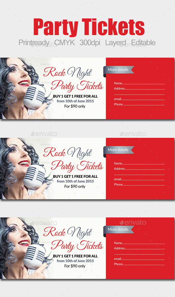 Concert / Party Ticket - Holiday Greeting Cards
