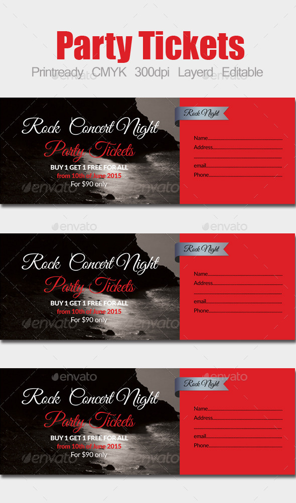 Special Party Event Ticket - Holiday Greeting Cards