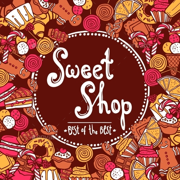 Sweet Shop Background - Food Objects