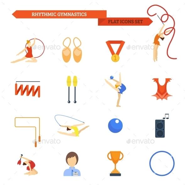 Gymnastics Icons - Sports/Activity Conceptual