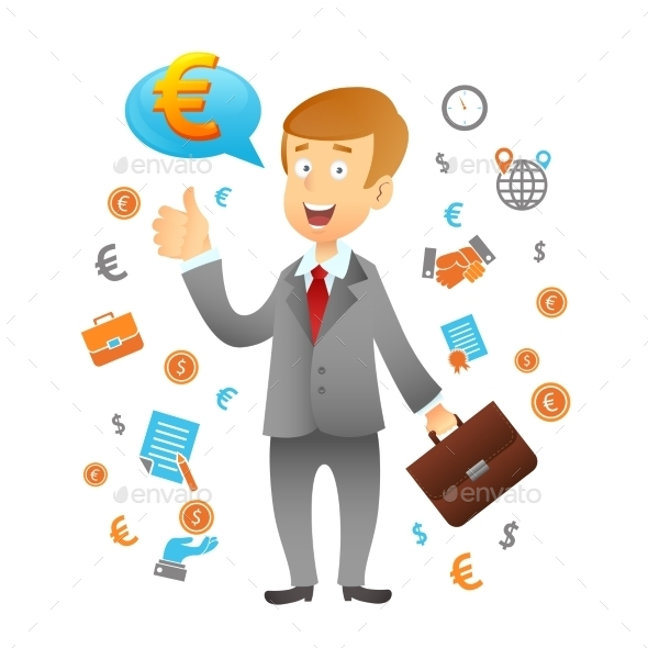 Businessman and Business Icons - Backgrounds Business
