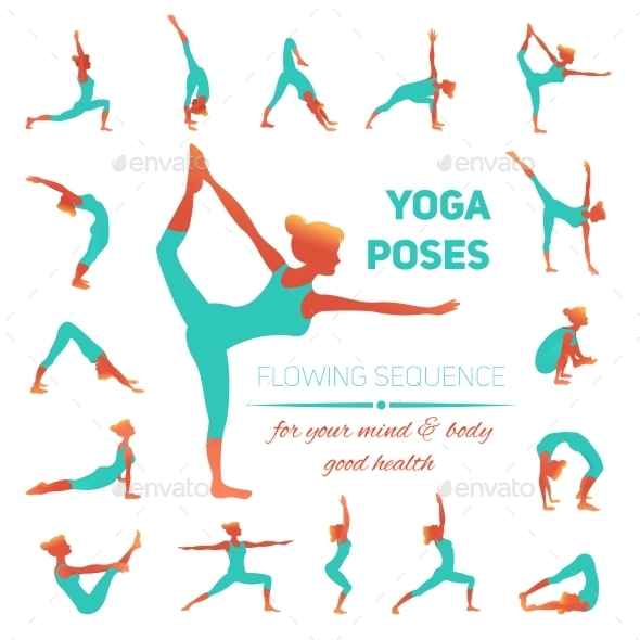 Yoga Poses Icons - Sports/Activity Conceptual
