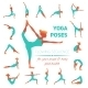 Yoga Poses Icons - GraphicRiver Item for Sale