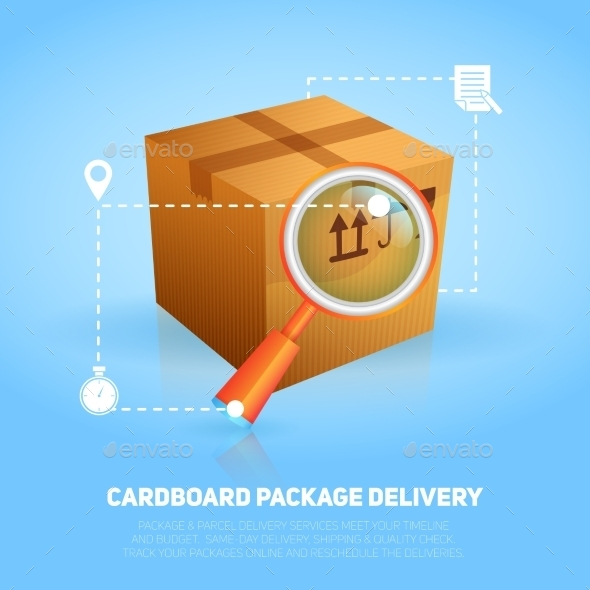 Logistic Package Poster - Miscellaneous Vectors