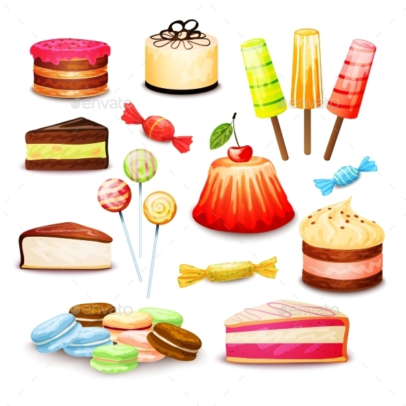 Sweet Food Set - Food Objects