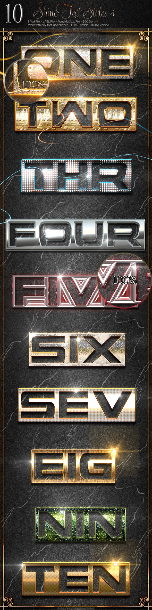 10 Shine Styles 4 - Text Effects Styles