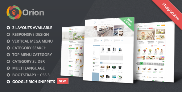 Orion – Mega Shop Responsive Magento Theme