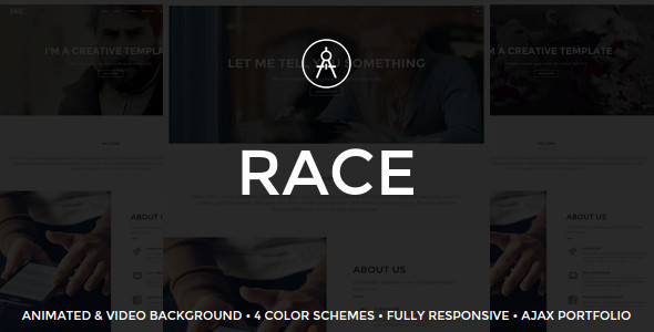 Race – Creative One Page Template