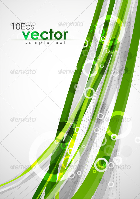 Abstract wavy green lines - Backgrounds Decorative