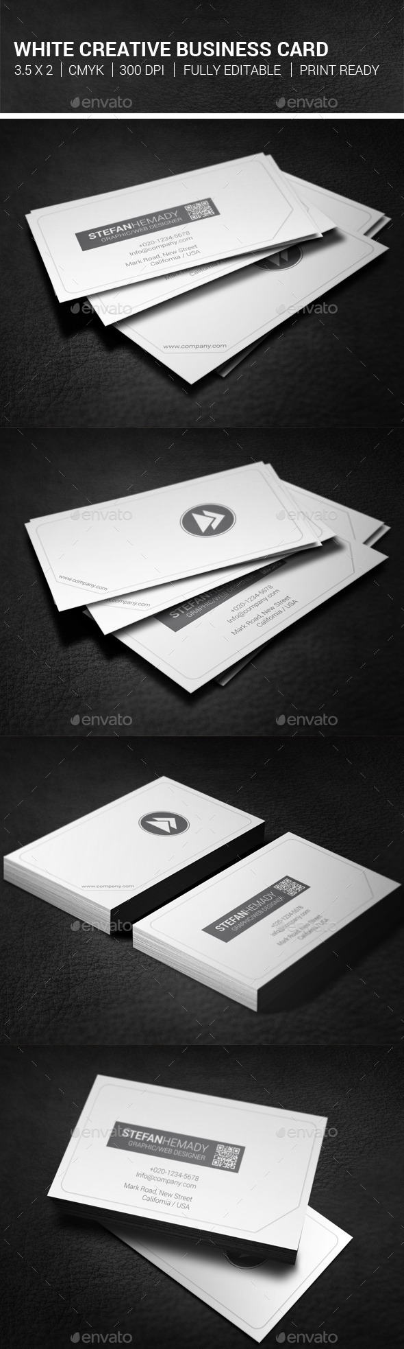 White Creative Business Card - Creative Business Cards
