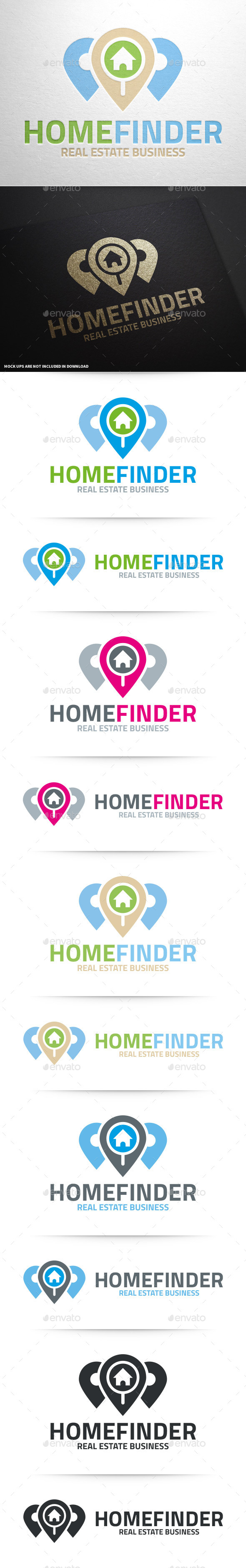 Home Finder Logo Template - Objects Logo Templates