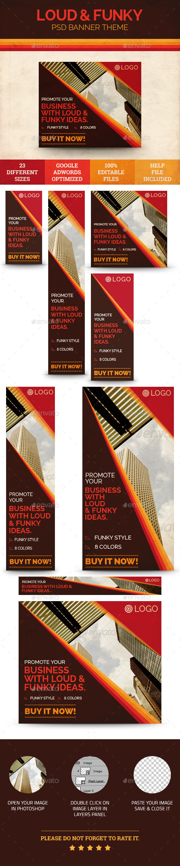 Loud / Funky Advertising - Banners & Ads Web Elements