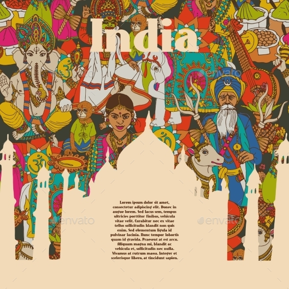 India Poster - Backgrounds Decorative