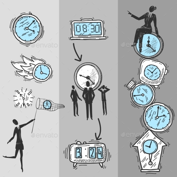 Clock Banners Set - Concepts Business