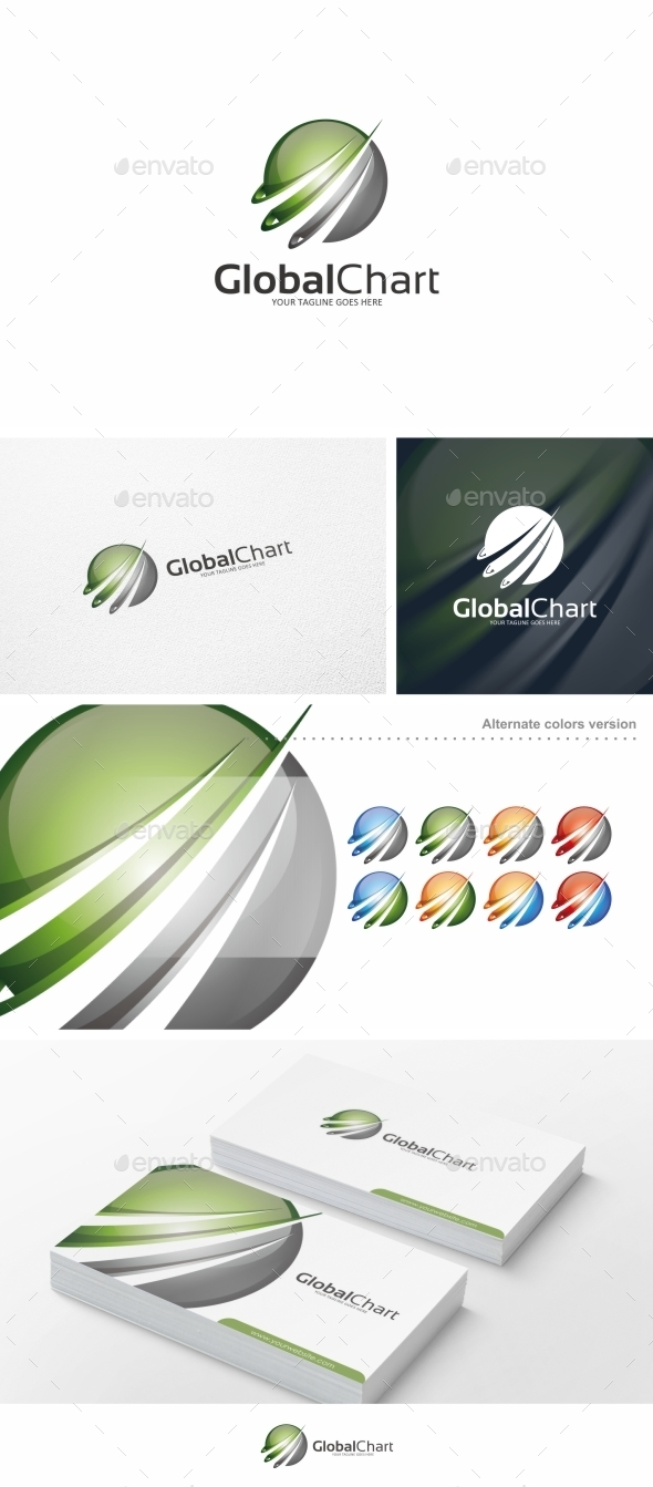 Global Chart - Logo Template - Abstract Logo Templates
