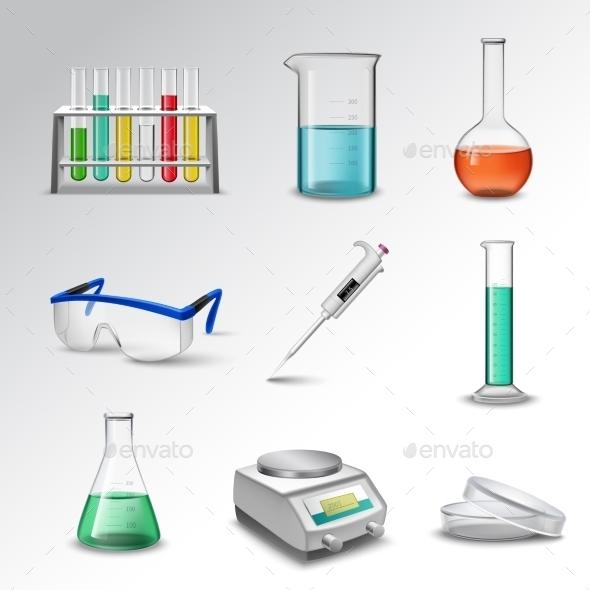 Laboratory Equipment Icons - Miscellaneous Vectors