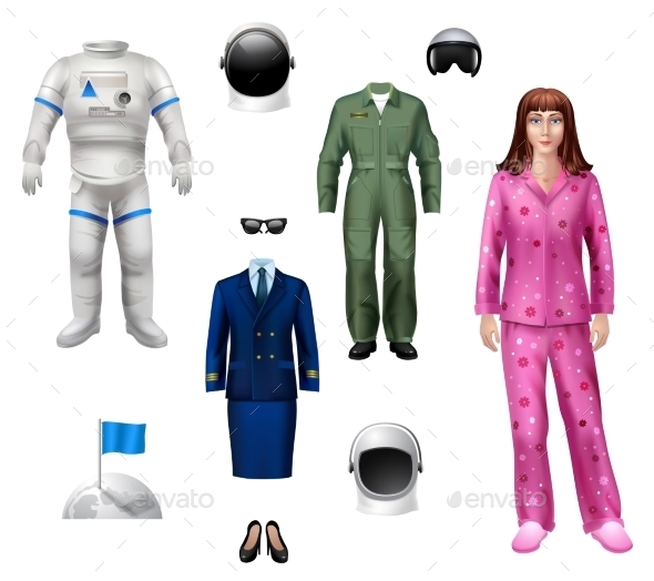 Astronaut Girl Pack - People Characters
