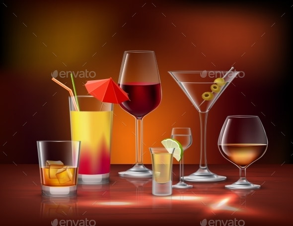 Drinks Decorative Set - Food Objects