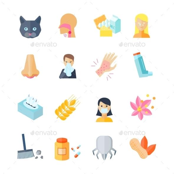 Allergy Icon Flat - Miscellaneous Icons