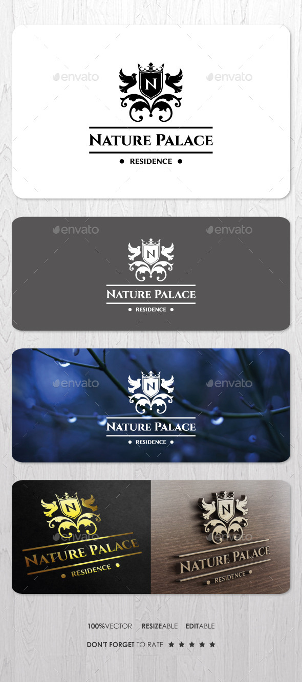 Nature Palace Residence Logo - Crests Logo Templates