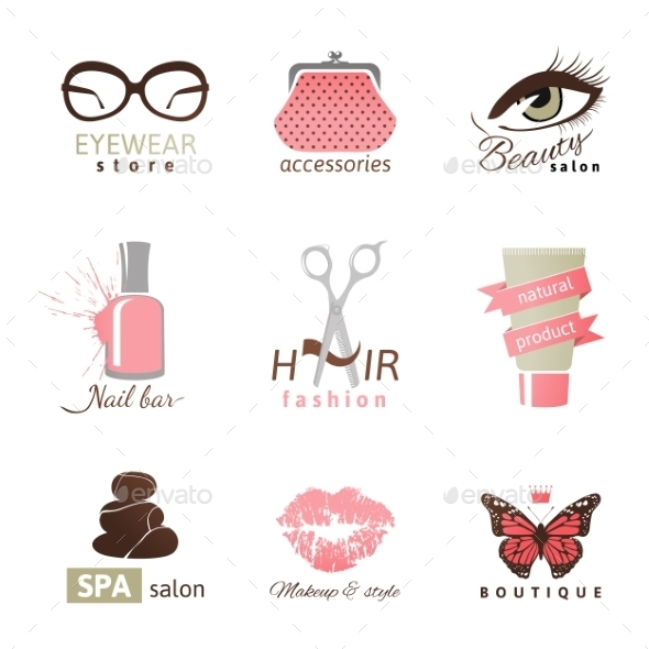 Beauty and Fashion Logo Templates - Decorative Symbols Decorative