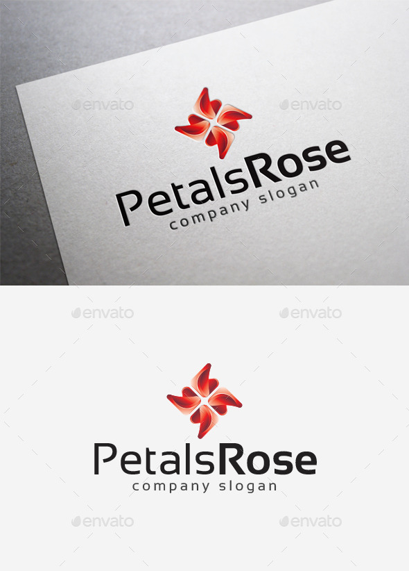Petals Rose Logo - Abstract Logo Templates