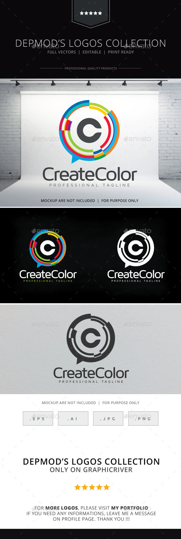 Create Color Logo - Letters Logo Templates